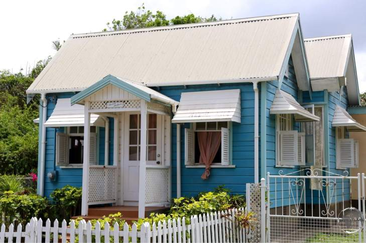 A colourful Chattel house on Barbados.