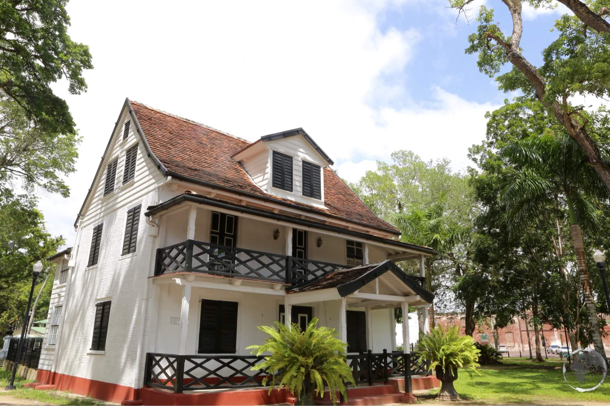 Historic Dutch Colonial architecture can be seen throughout Paramaribo.