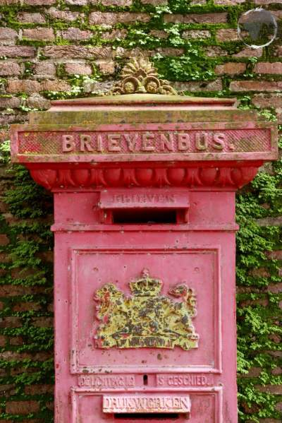 Old Dutch letterbox in Paramaribo.