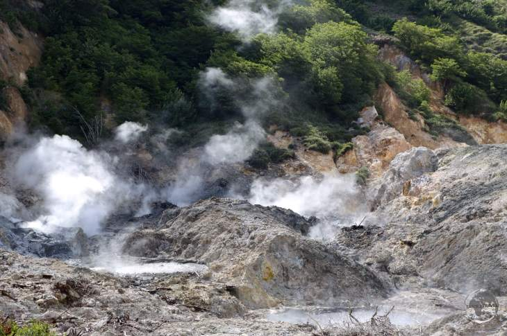 """Located near the town of Soufrière, Sulphur Springs is the """"world's only drive in volcano""""."""