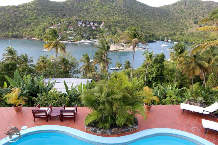 View of Marigot Bay from Marigot Palms guest house.