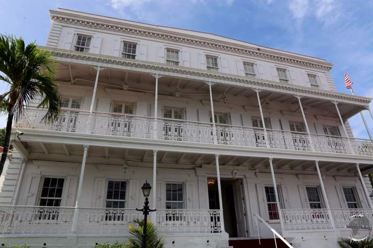 The historic Government house, Charlotte Amalie, St. Thomas.