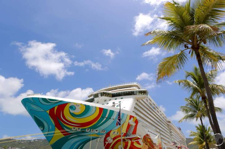 United States Virgin Islands Travel Guide: Cruise ship anchored in Charlotte Amalie