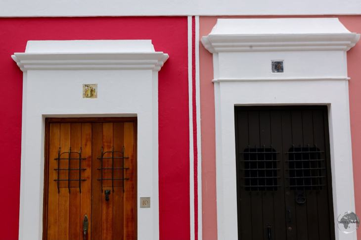 Doorways in the beautifully restored old town of San Juan.