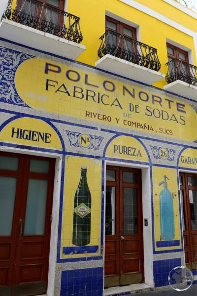 A colourful shop-front in old San Juan.