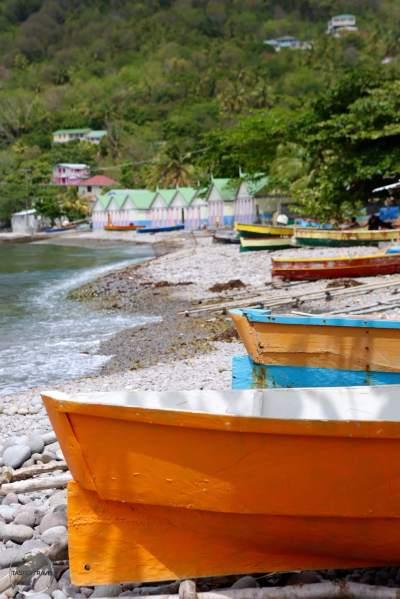 Fishing boats at Scott's Head.