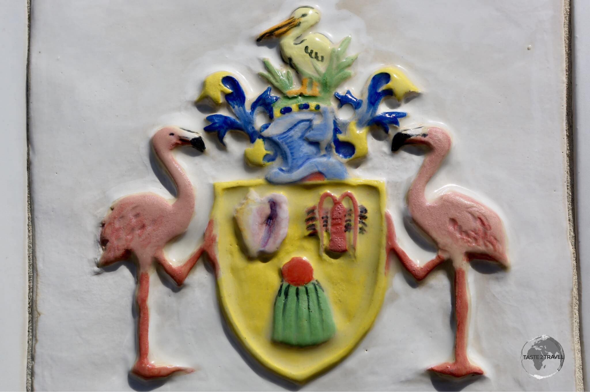 TCI coat of arms which features the Turks Head cactus.
