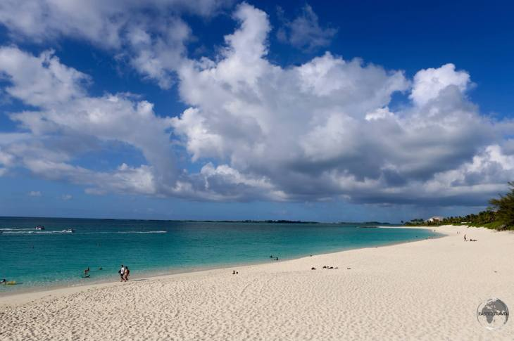 Cable beach, New Providence island.