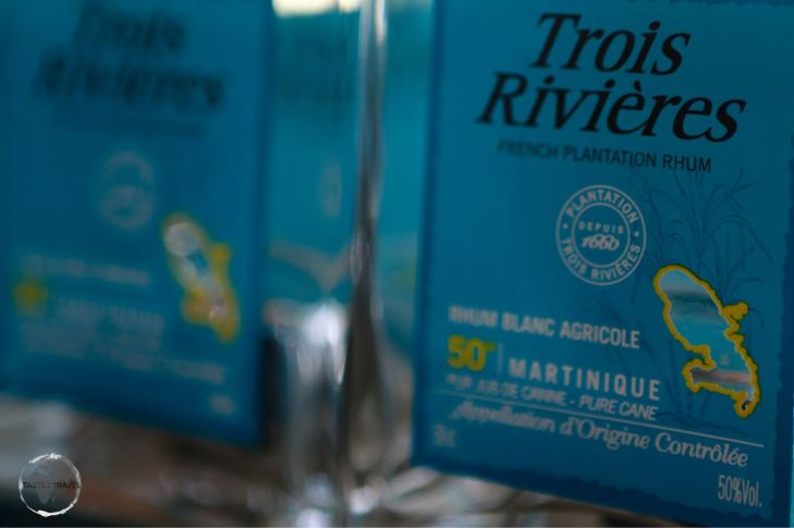 The very fine, locally-distilled,Trois Rivières rum.