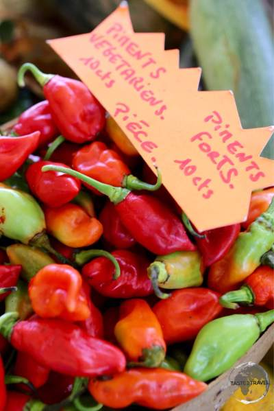 Market produce at Sainte-Anne market.