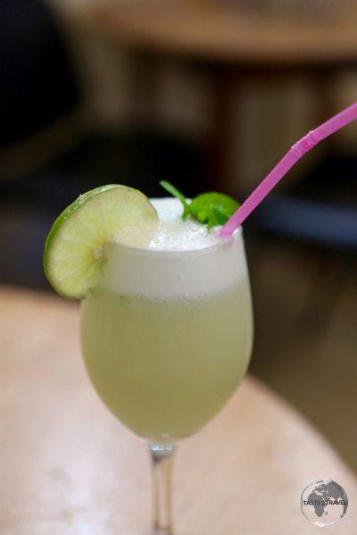 A divine fresh lime juice at the <i>Museo de la Revolucion</i> in Havana.