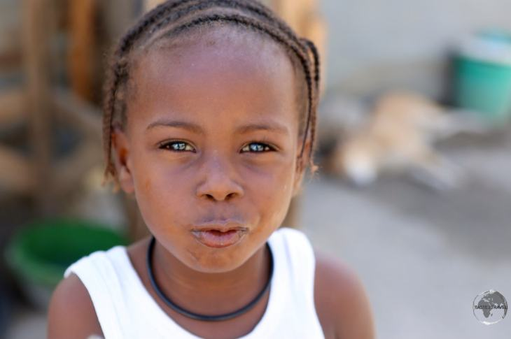 Young boy in downtown Port-au-Prince (PAP).