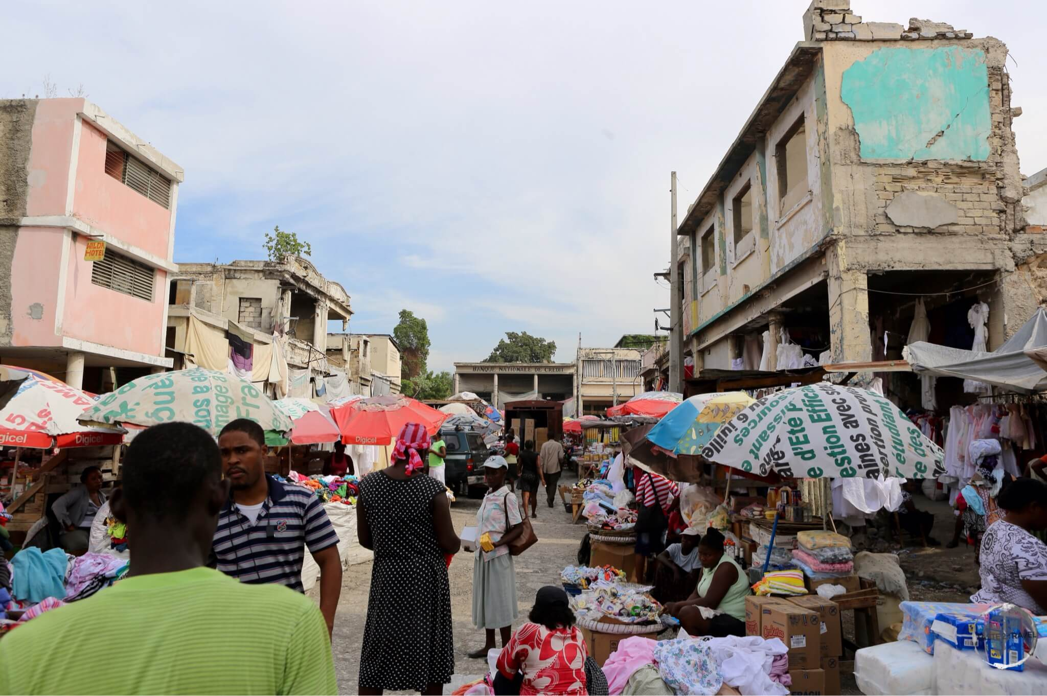 Typical street scene in downtown Port-au-Prince.