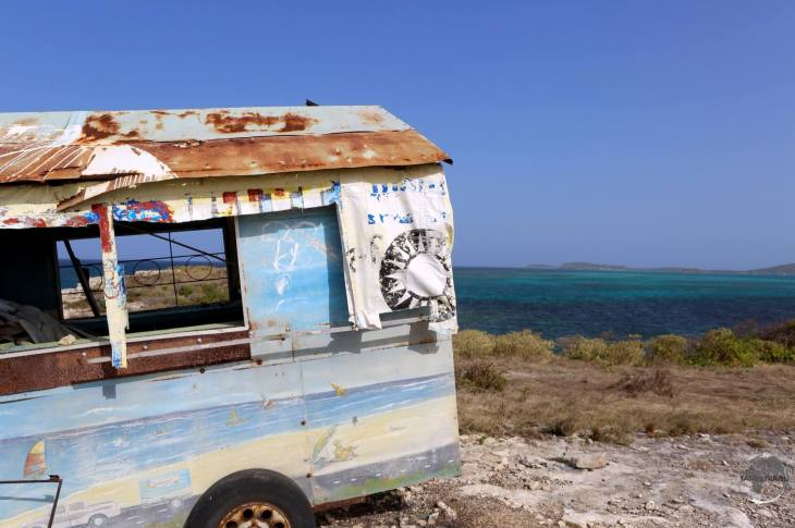 Antigua Travel Guide: Abandoned Vehicle Antigua.