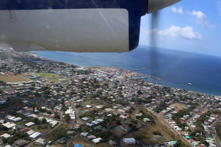 View of Basseterre from my Winair flight to St. Martin.
