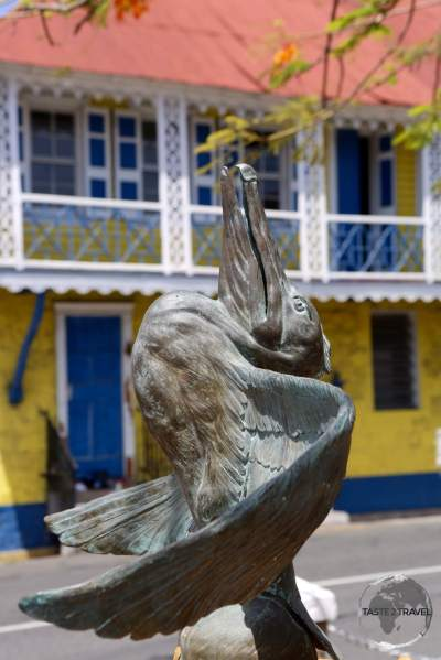 Memorial Square in Charlestown, the charming capital of Nevis.