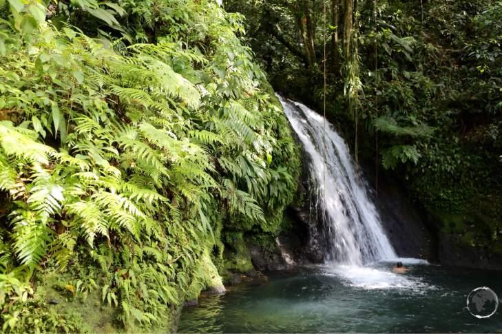 Cascade aux Ecrevisses on Basse-Terre.