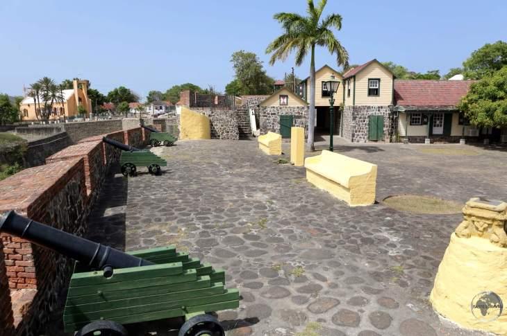 The historic Dutch-built Fort Oranje in Oranjestad.