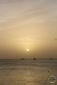 Sunset on Statia