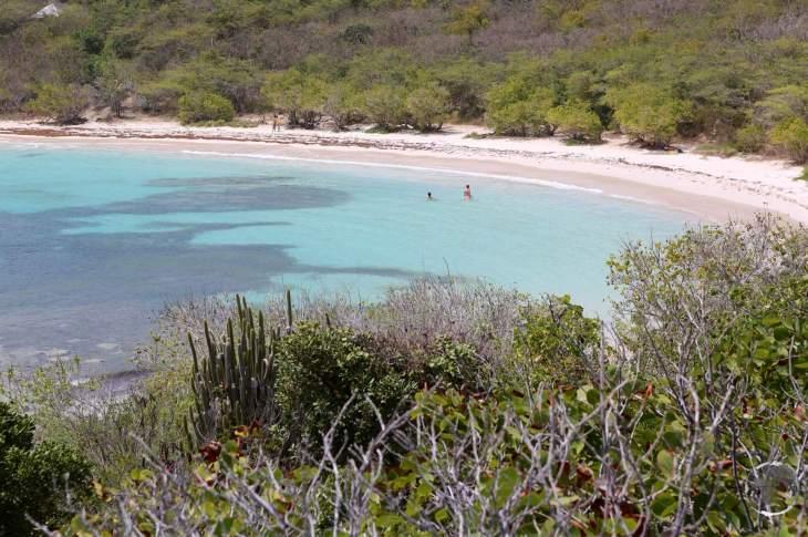 A view of Half Moon Bay, Antigua.