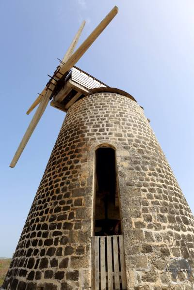 Antigua Travel Guide: Old windmill at Betty's Hope Plantation