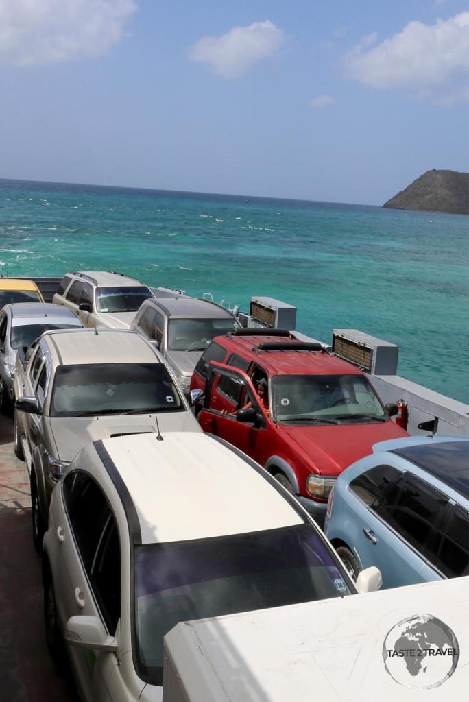 The Seabridge ferry from St. Kitts to Nevis.