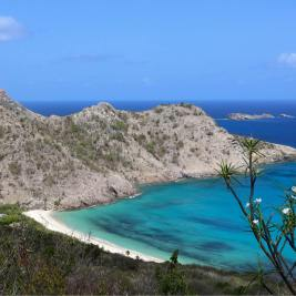 A panoramic view of Anse du Gouverneur.