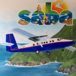 Artwork at Saba airport.