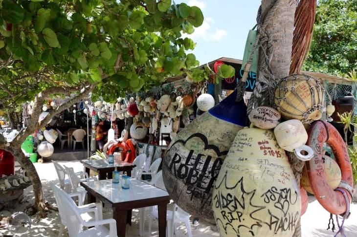 One of the many beach-side bars on White Bay Beach, BVI.