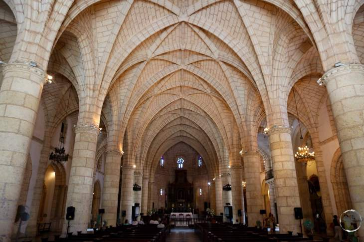 Interior of the first Cathedral built in the Americas - Catedral Primada de América, Santo Domingo.
