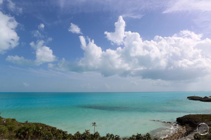 A view of the south coast of Providenciales island.