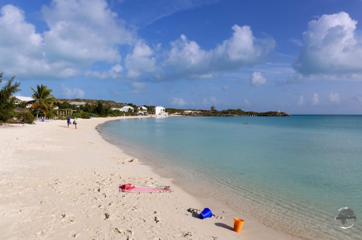 The calm waters of Sapodilla Bay are popular with families.