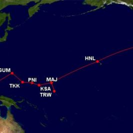 Island Hopping Route: Source - Great Circle Tracker