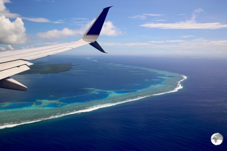 UA154 on approach to Pohnpei.