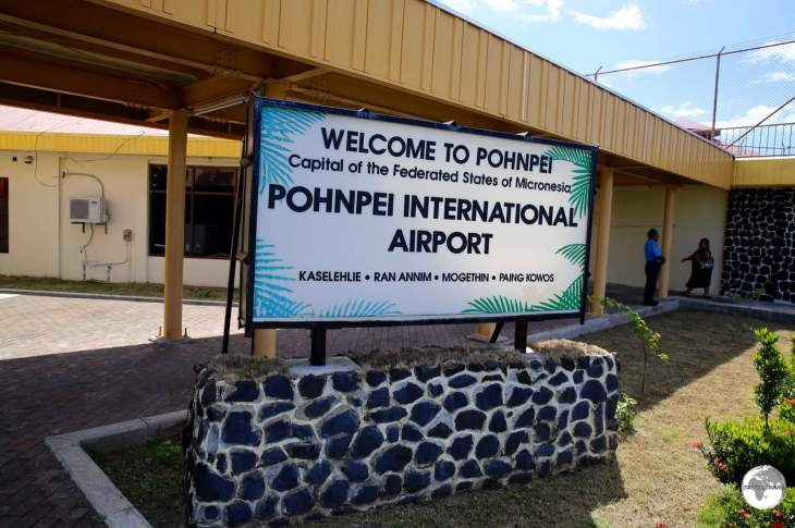 Arriving at Pohnpei Airport.