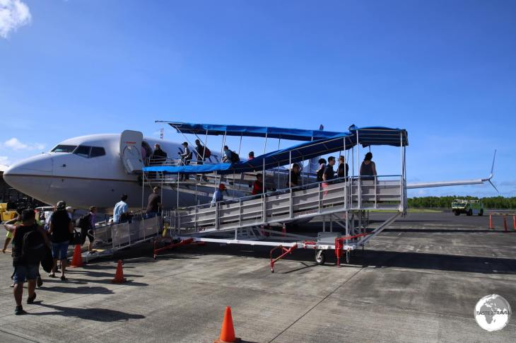 UA154 departing Pohnpei.