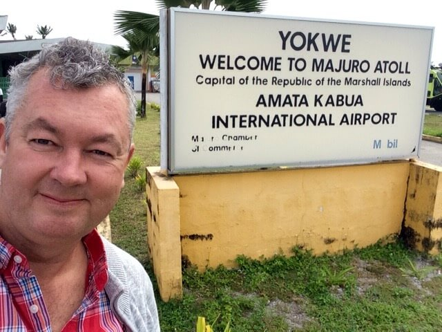 Arrival at Majuro Airport.