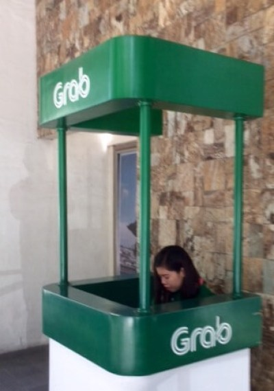 Grab Taxi Service Desk at NAIA.