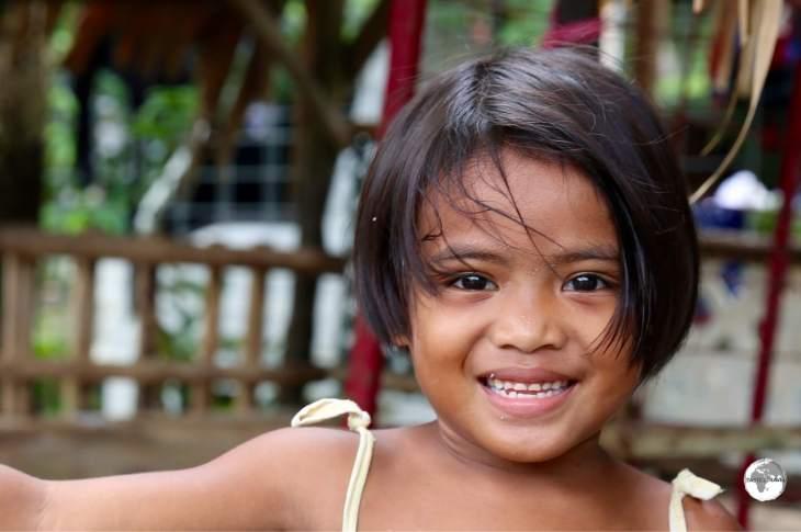 Smiling girl on Pohnpei