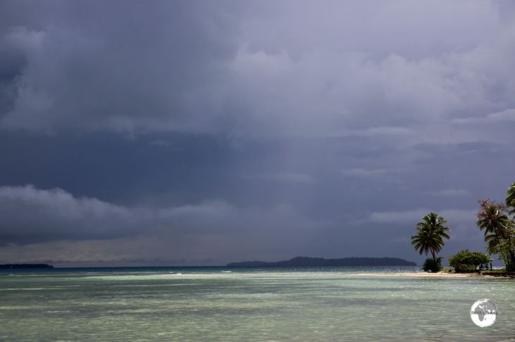 Chuuk Travel Guide: Storm clouds over Chuuk Lagoon.