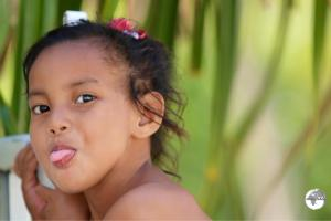 Young girl on Kiribati.