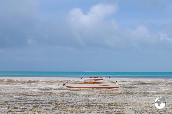 Low tide on South Tarawa.