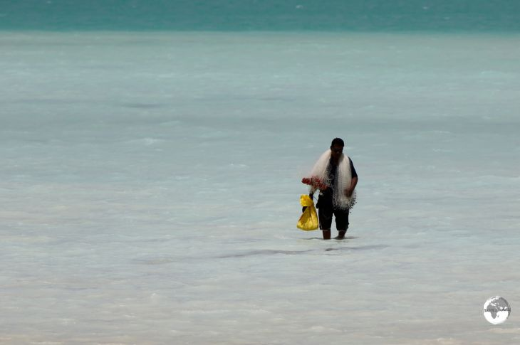 Fishing is the main pastime on all the islands of Kiribati.