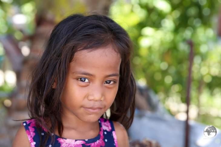 A young girl on on Betio Island.