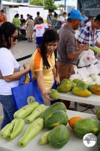 Weekly farmer's market in Majuro.