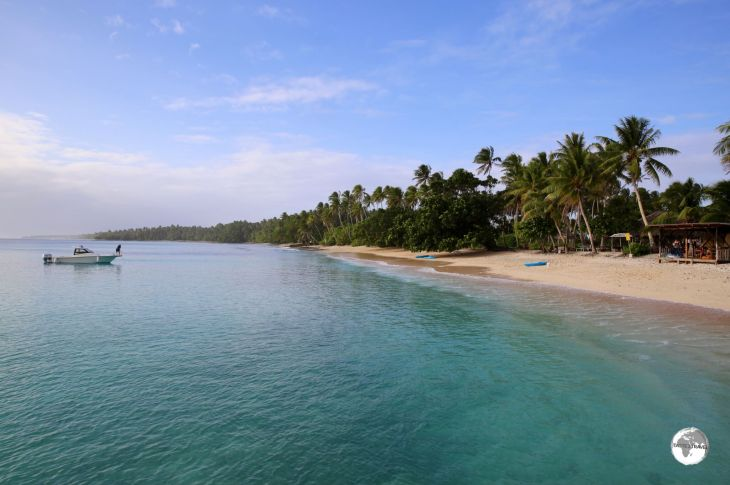 A relaxing Sunday at Enemanit Island, which is located a short boat ride from Majuro.