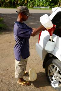Re-fueling 'Kosrae style'.