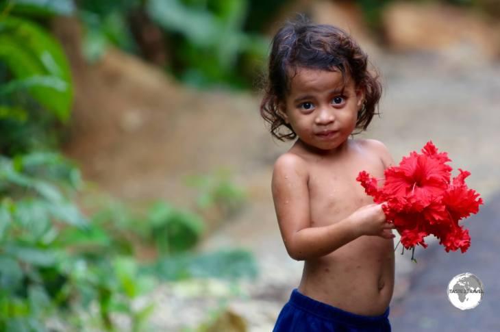 Very cute! Flower Girl on Pohnpei.