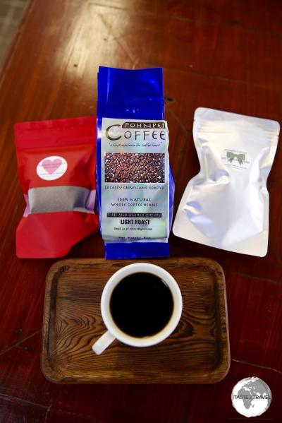 The delicious organic Pohnpei coffee available at Sei.