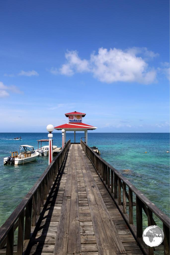 The boat jetty at Truk Stop hotel.